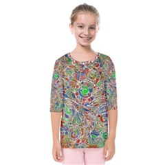 Pop Art - Spirals World 1 Kids  Quarter Sleeve Raglan Tee