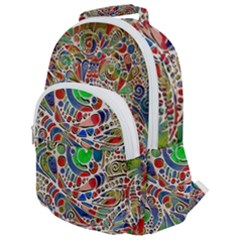 Pop Art - Spirals World 1 Rounded Multi Pocket Backpack
