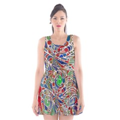 Pop Art - Spirals World 1 Scoop Neck Skater Dress