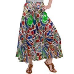 Pop Art - Spirals World 1 Satin Palazzo Pants by EDDArt