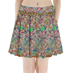 Pop Art - Spirals World 1 Pleated Mini Skirt by EDDArt