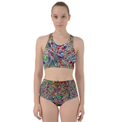Pop Art - Spirals World 1 Racer Back Bikini Set