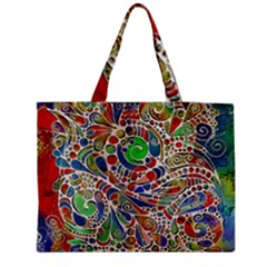 Pop Art - Spirals World 1 Zipper Medium Tote Bag