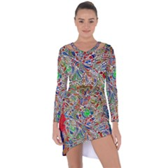 Pop Art - Spirals World 1 Asymmetric Cut-out Shift Dress