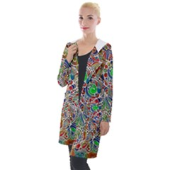 Pop Art - Spirals World 1 Hooded Pocket Cardigan