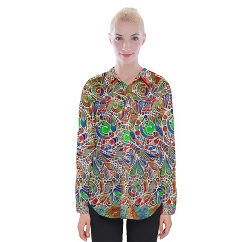 Pop Art - Spirals World 1 Womens Long Sleeve Shirt by EDDArt
