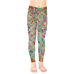 Pop Art - Spirals World 1 Kids  Leggings by EDDArt