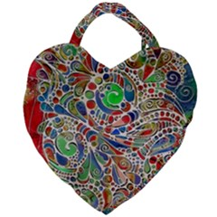 Pop Art - Spirals World 1 Giant Heart Shaped Tote