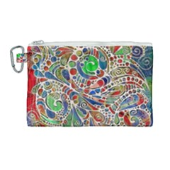 Pop Art - Spirals World 1 Canvas Cosmetic Bag (large)