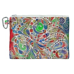 Pop Art - Spirals World 1 Canvas Cosmetic Bag (xl)