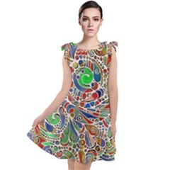 Pop Art - Spirals World 1 Tie Up Tunic Dress