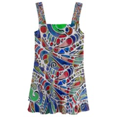 Pop Art - Spirals World 1 Kids  Layered Skirt Swimsuit