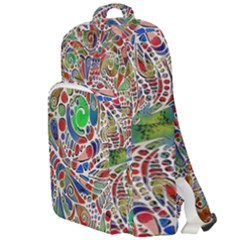 Pop Art - Spirals World 1 Double Compartment Backpack