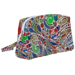Pop Art - Spirals World 1 Wristlet Pouch Bag (large) by EDDArt