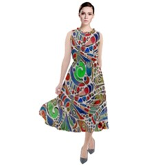 Pop Art - Spirals World 1 Round Neck Boho Dress