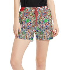 Pop Art - Spirals World 1 Runner Shorts by EDDArt