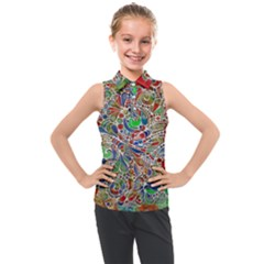 Pop Art - Spirals World 1 Kids  Sleeveless Polo Tee