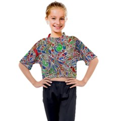 Pop Art - Spirals World 1 Kids Mock Neck Tee