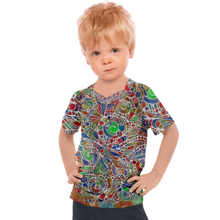 Pop Art - Spirals World 1 Kids  Sports Tee