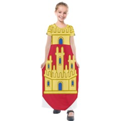 Royal Arms Of Castile  Kids  Short Sleeve Maxi Dress by abbeyz71