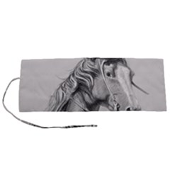 Custom Horse Roll Up Canvas Pencil Holder (s)