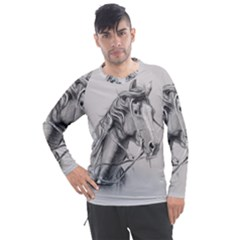 Custom Horse Men s Pique Long Sleeve Tee