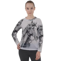 Custom Horse Women s Long Sleeve Raglan Tee