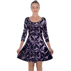 New Age Armor Quarter Sleeve Skater Dress