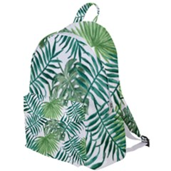 Green Tropical Leaves The Plain Backpack