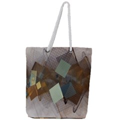 Geometry Diamond Full Print Rope Handle Tote (large)