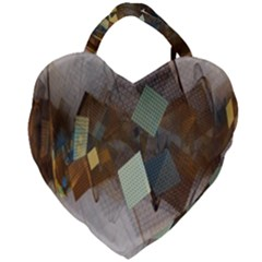 Geometry Diamond Giant Heart Shaped Tote
