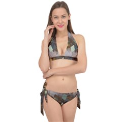 Geometry Diamond Tie It Up Bikini Set