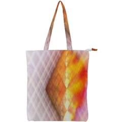 Geometry Diamond Double Zip Up Tote Bag