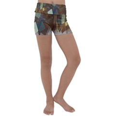 Digital Geometry Kids  Lightweight Velour Yoga Shorts