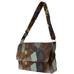Geometry Diamond Full Print Messenger Bag (l)