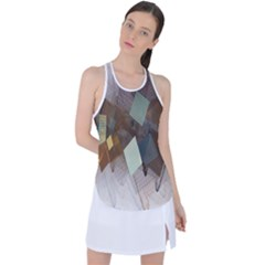 Geometry Diamond Racer Back Mesh Tank Top