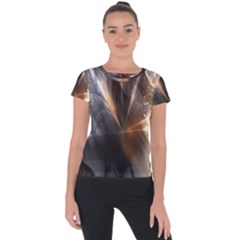 Digital Geometry Short Sleeve Sports Top  by Sparkle