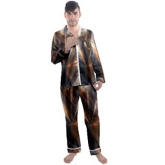 Geometry Diamond Men s Long Sleeve Satin Pyjamas Set