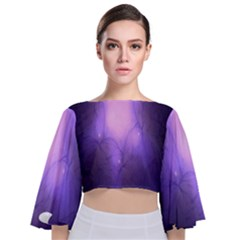 Violet Spark Tie Back Butterfly Sleeve Chiffon Top
