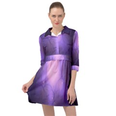 Violet Spark Mini Skater Shirt Dress by Sparkle