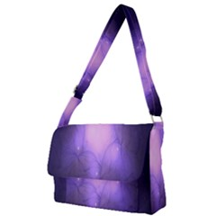 Violet Spark Full Print Messenger Bag (l)