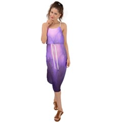 Violet Spark Waist Tie Cover Up Chiffon Dress