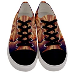 Sun Fractal Men s Low Top Canvas Sneakers