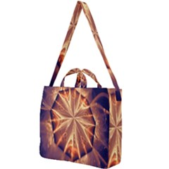 Sun Fractal Square Shoulder Tote Bag