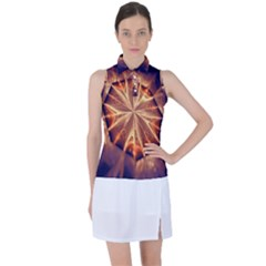 Sun Fractal Women s Sleeveless Polo Tee