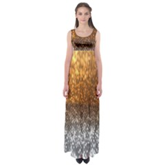 Glitter Gold Empire Waist Maxi Dress