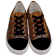 Glitter Gold Men s Low Top Canvas Sneakers