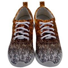 Glitter Gold Mens Athletic Shoes by Sparkle