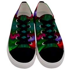 Rainbow Waves Men s Low Top Canvas Sneakers