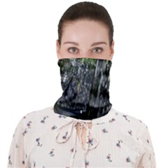 Green Glitter Squre Face Covering Bandana (adult)